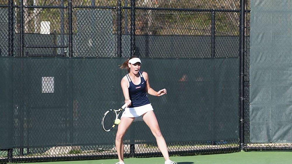 Sophomore Stephanie Nauta is 12-1 in singles play this season.