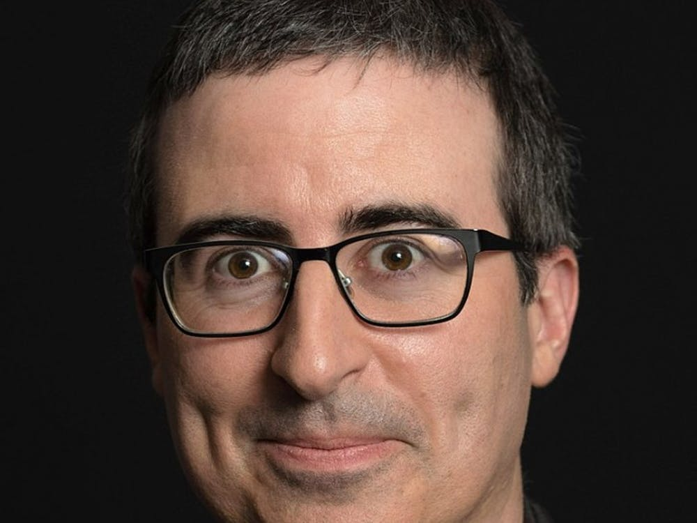 """John Oliver brought season five of his comedy-news recap show """"Last Week Tonight"""" to a signature close, combining flippant humor with more serious commentary."""