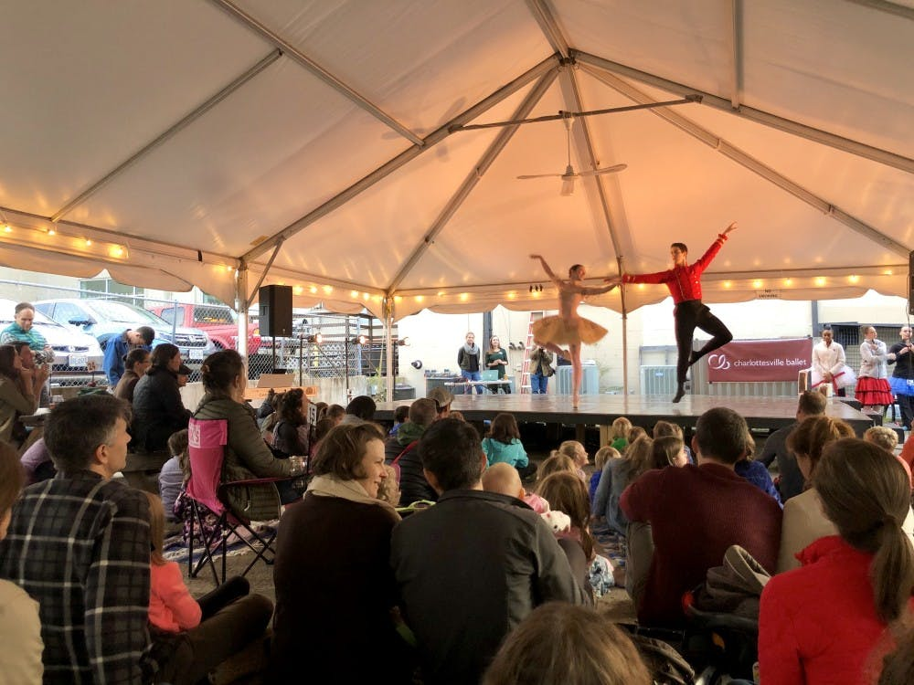 """<p>Performers from the Charlottesville Ballet previewed """"The Nutcracker"""" and shared other dances for the crowd at the Beer and Ballet event.&nbsp;</p>"""