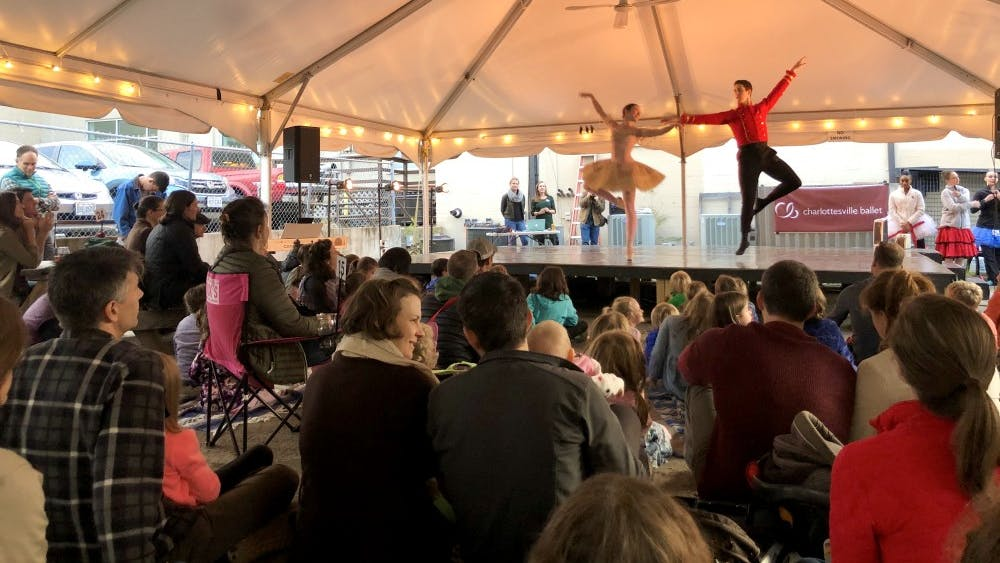"""Performers from the Charlottesville Ballet previewed """"The Nutcracker"""" and shared other dances for the crowd at the Beer and Ballet event."""