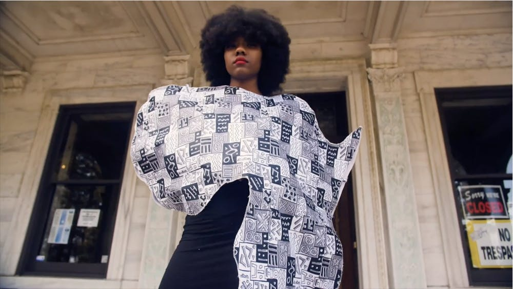 OASA models showed off designs featuring West African Prints.