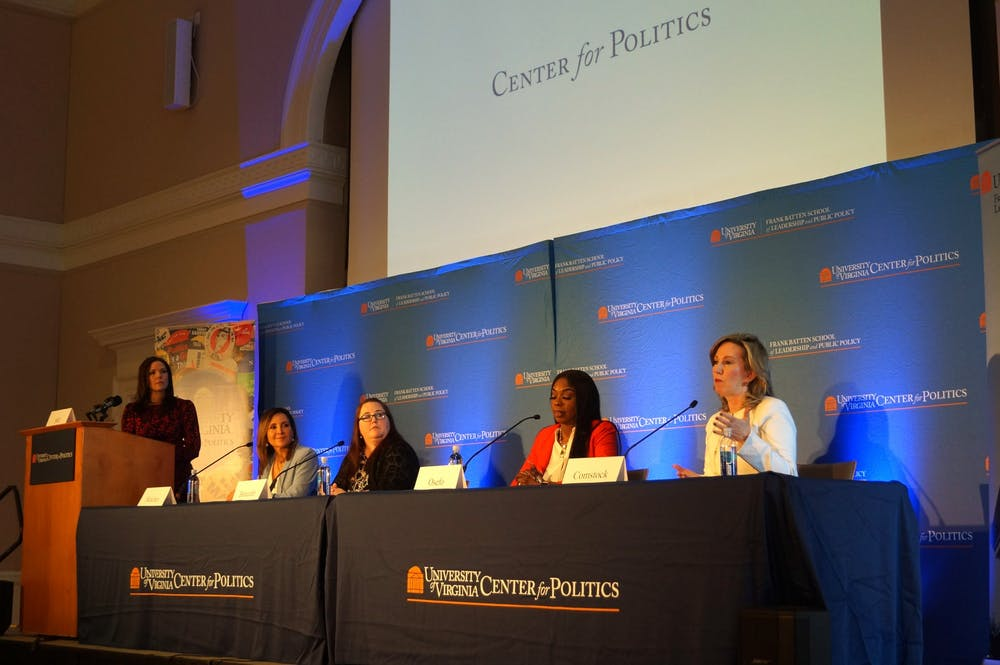 """<p>The event was part of """"Democracy in Perilous Times: Unprecedented Challenges and Controversies""""&nbsp;— an ongoing series organized by the Center for Politics and Batten School.&nbsp;</p>"""