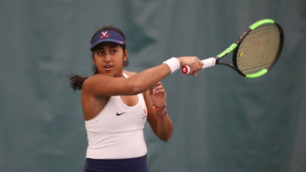 No. 21 Natasha Subhash had three hard-fought matches at the No. 1 spot for Virginia but was only able to secure one win.