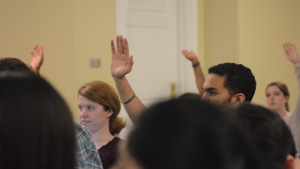 The resolution passed unanimously with four abstentions.Third-year Commerce student and representative Billy Hicks, who was present at the meeting, decided to abstain from voting on the resolution.