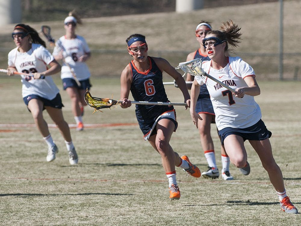 Junior midfielder Courtney Swan scored four goals and added a pair of assists to lead Virginia, while also winning 10 of Virginia's 19 draw controls in the game.