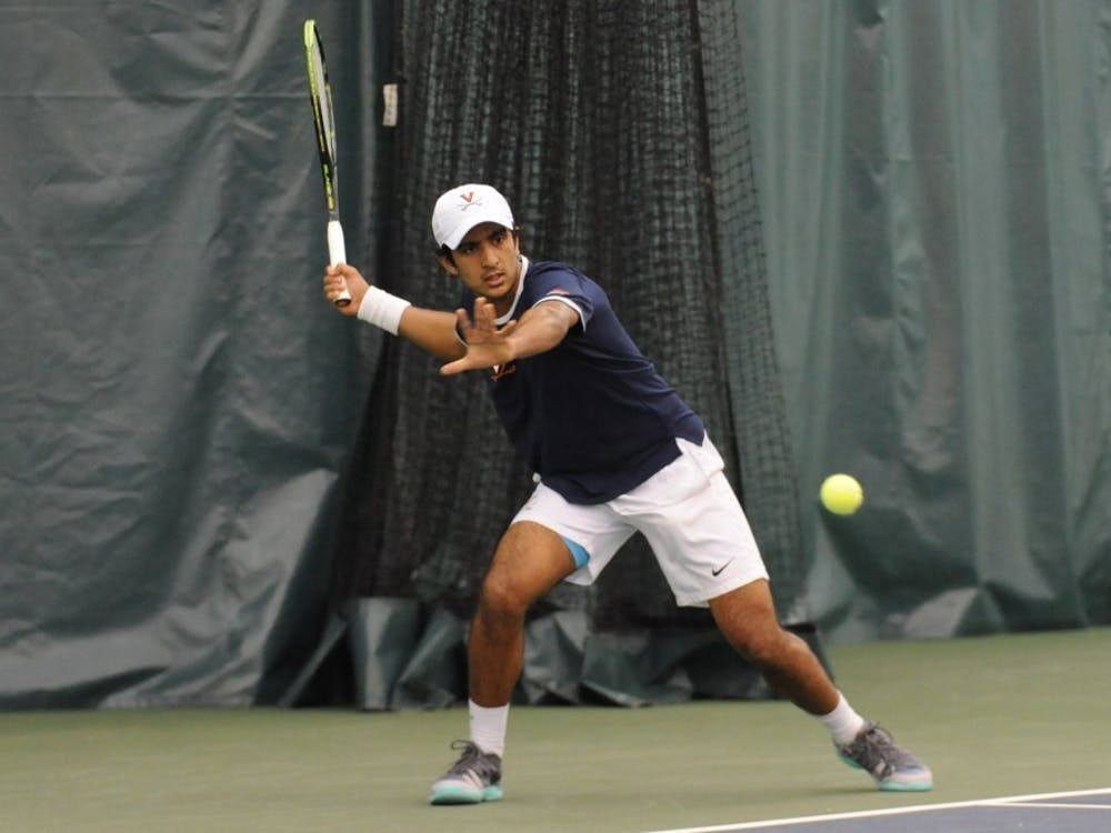 Senior Aswin Lizen is a leader for a young Virginia men's tennis squad.