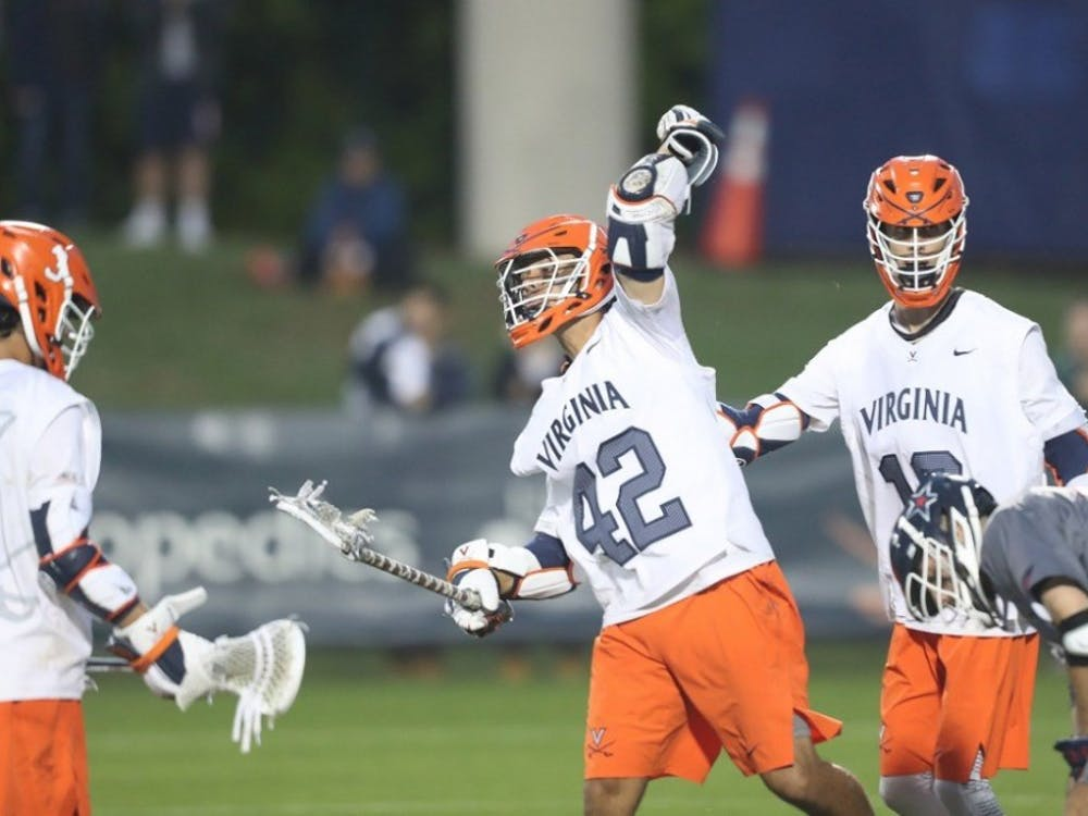 Senior attackman Mikey Herring led the Virginia offense with a career-best six-goal performance against Robert Morris.
