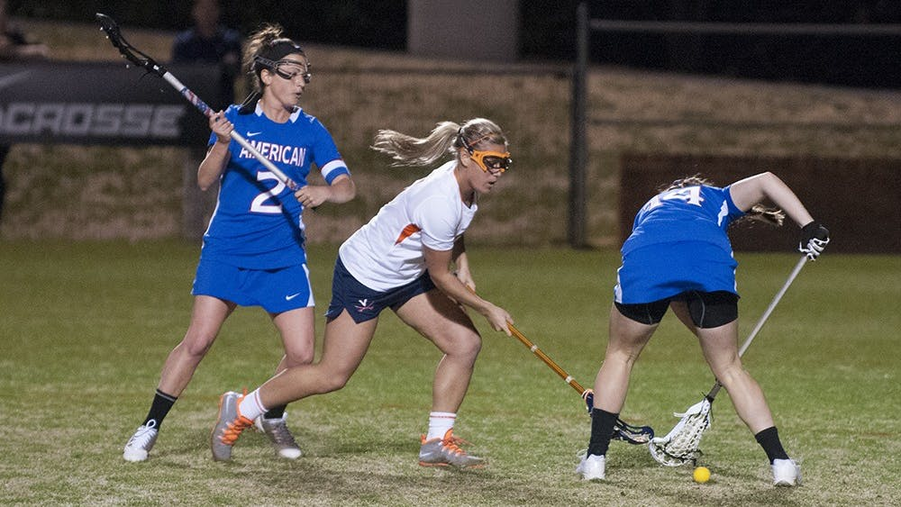Junior attacker Kelly Reese was one of three Cavaliers to score two goals Saturday. No. 4 Virginia fell, 14-7, against No. 12 Princeton.