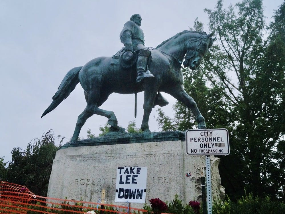 The statue's removal has also elicited tempered reminders that there is still work to be done.
