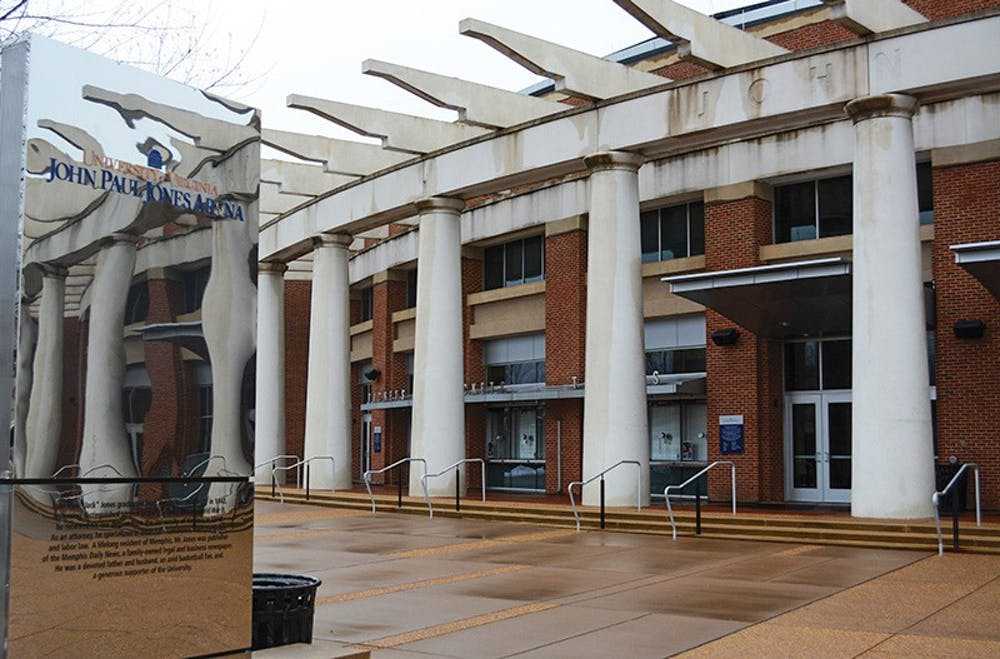 <p>John Paul Jones Arena, which seats 14,593 people, is home to Virginia's men's and women's basketball teams.</p>