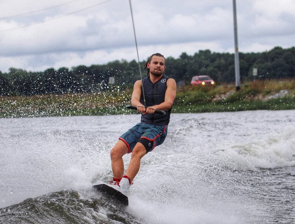 <p>Graham was first exposed to wakeboarding at an early age by his father and hasn't looked back since.</p>