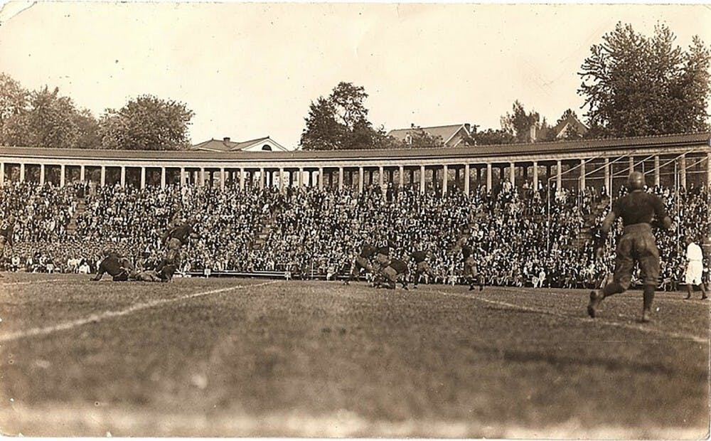 <p>Lambeth Field was the site of Hunter Carpenter and Virginia Tech's first win over Virginia in 1905.</p>