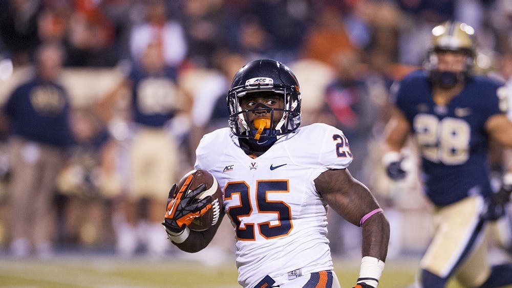 Running back Kevin Parks amassed 3,219 rushing yards and 29 rushing touchdowns in his Virginia career.