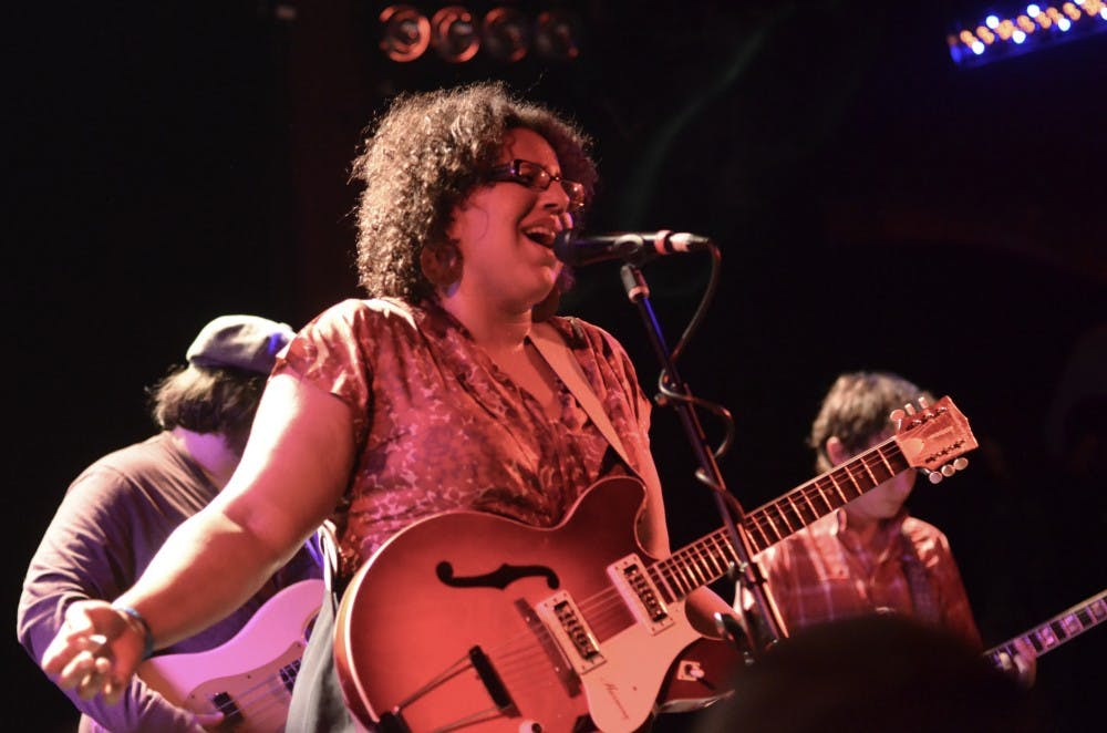 <p>Brittany Howard &nbsp;— performing here with her band Alabama Shakes in 2012 — grapples with identity on her debut solo release.</p>