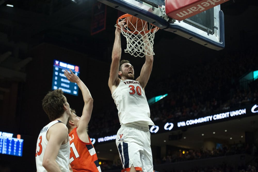 <p>Senior forward Jay Huff and the Cavaliers will face one of Virginia's toughest non-conference schedules of the Bennett era.&nbsp;</p>