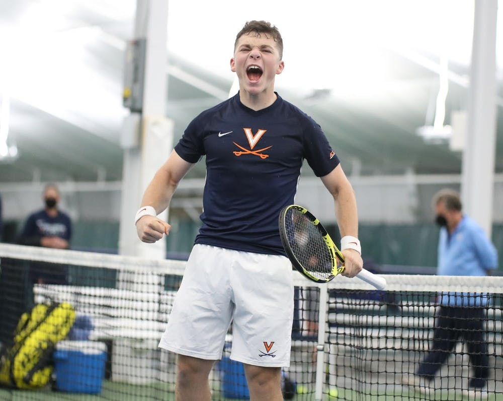 <p>Virginia freshman Iñaki Montes helped secure the doubles point and a singles point for the Cavaliers against No. 1 North Carolina.</p>