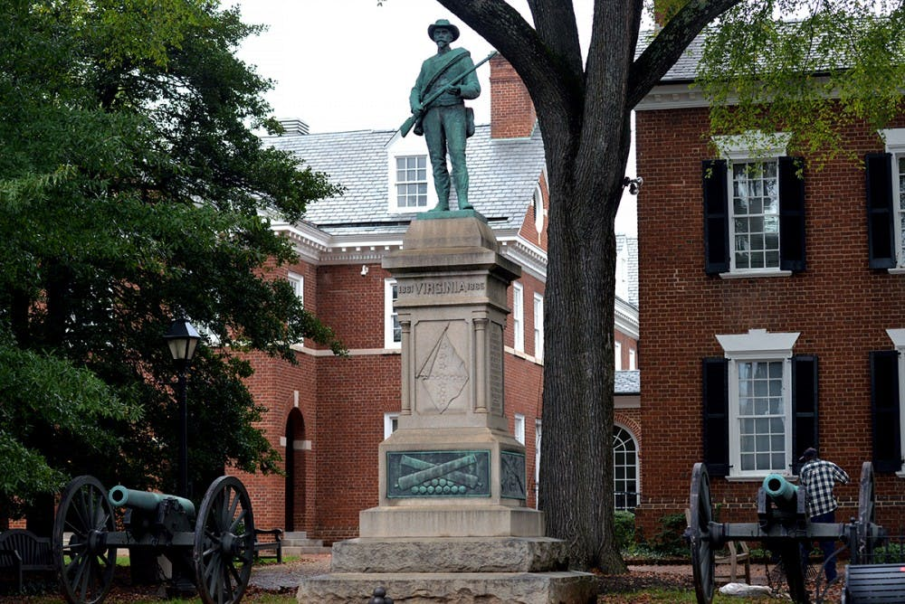 <p>The United Daughters of the Confederacy erected the Johnny Reb statue in 1909 to honor Confederate soldiers of the Civil War.</p>