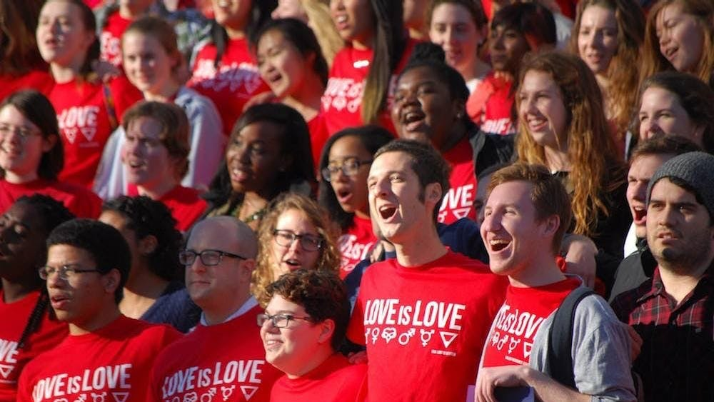 """One of the most fulfilling celebrations of this holiday at the University is the """"Love is…"""" campaign."""