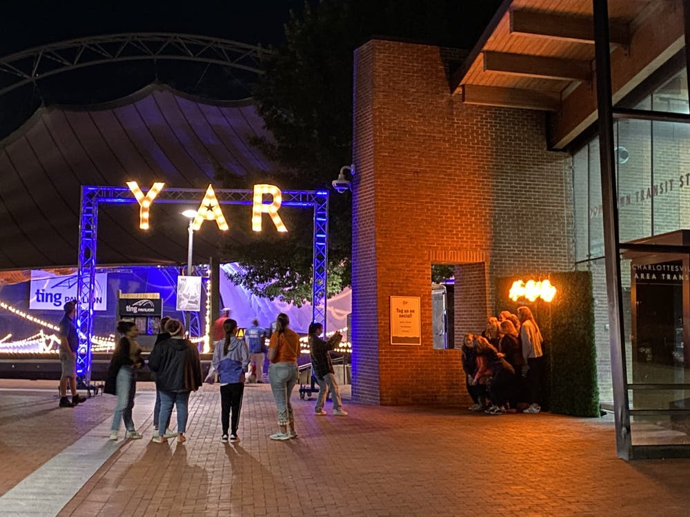 The Class of 2018, 2019, 2020 and 2021 were invited to the event, which was held at the Ting Pavilion on the Downtown Mall from 9:00 p.m. to midnight.