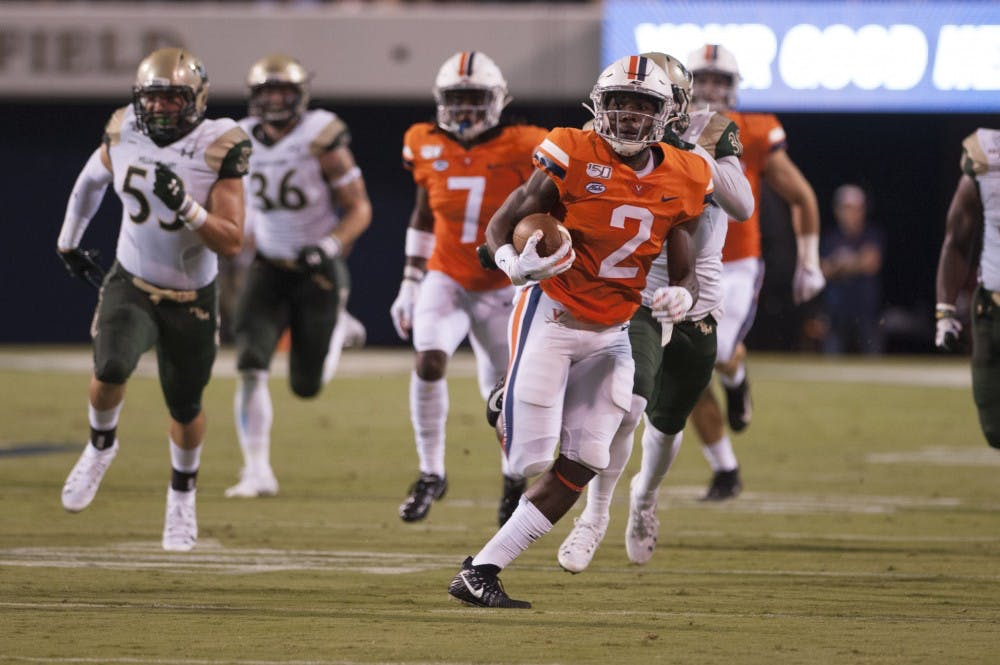 <p>Senior wide receiver Joe Reed holds Virginia's kick return yardage record.</p>