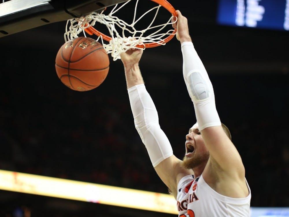 Senior center Jack Salt scored a career-high 18 points for Virginia.