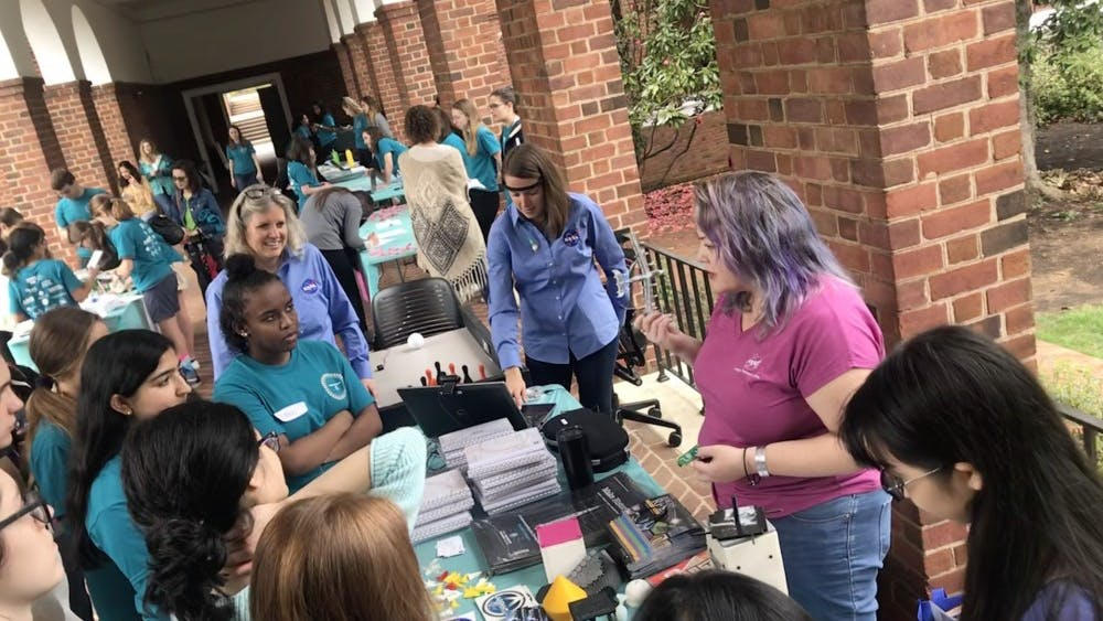 This event featured STEM-related and interactive exhibits from organizations both on and off-Grounds, such as Women in Computing Sciences and NASA.