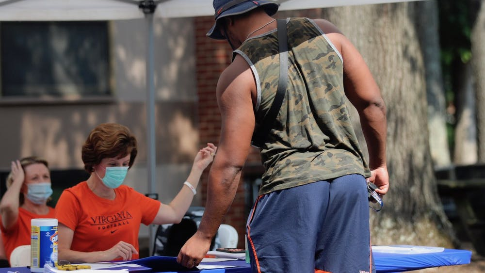 Senior defensive end Richard Burney was one of the 110 student-athletes who returned to voluntary workouts last week.