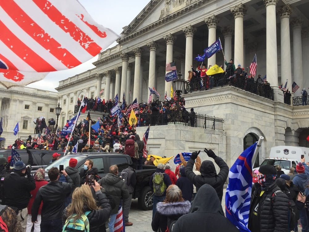 <p>Many student groups drew parallels between the Capitol insurrection and the Unite the Right rally in Charlottesville in Aug. 2017.</p>