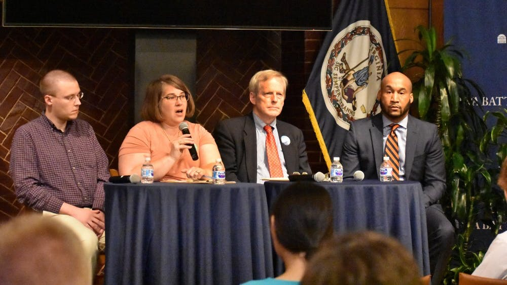 All three Democratic candidates attended the forum — Michael Payne, Sena Magill, and Lloyd Snook — as well as one Independent candidate, Bellamy Brown.