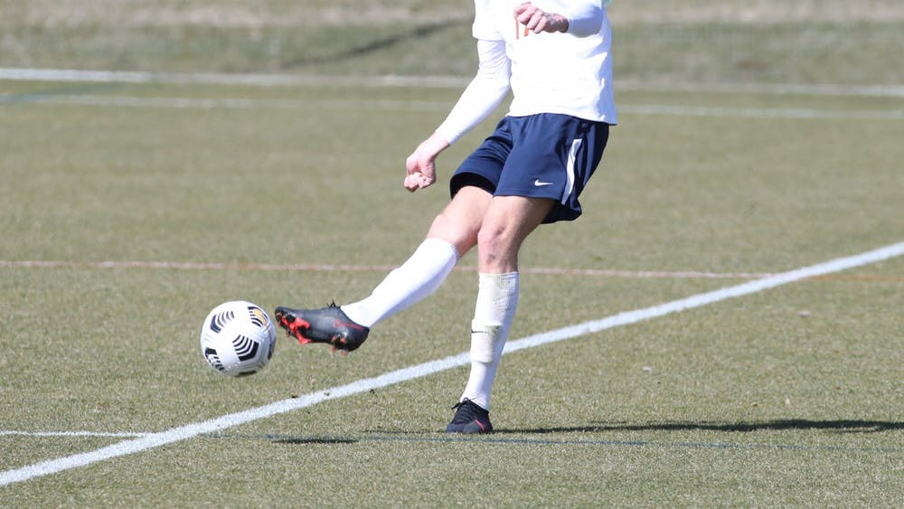 Sophomore center back Andreas Ueland and the Cavalier defensive corps were unable to contain a solid Louisville attack.