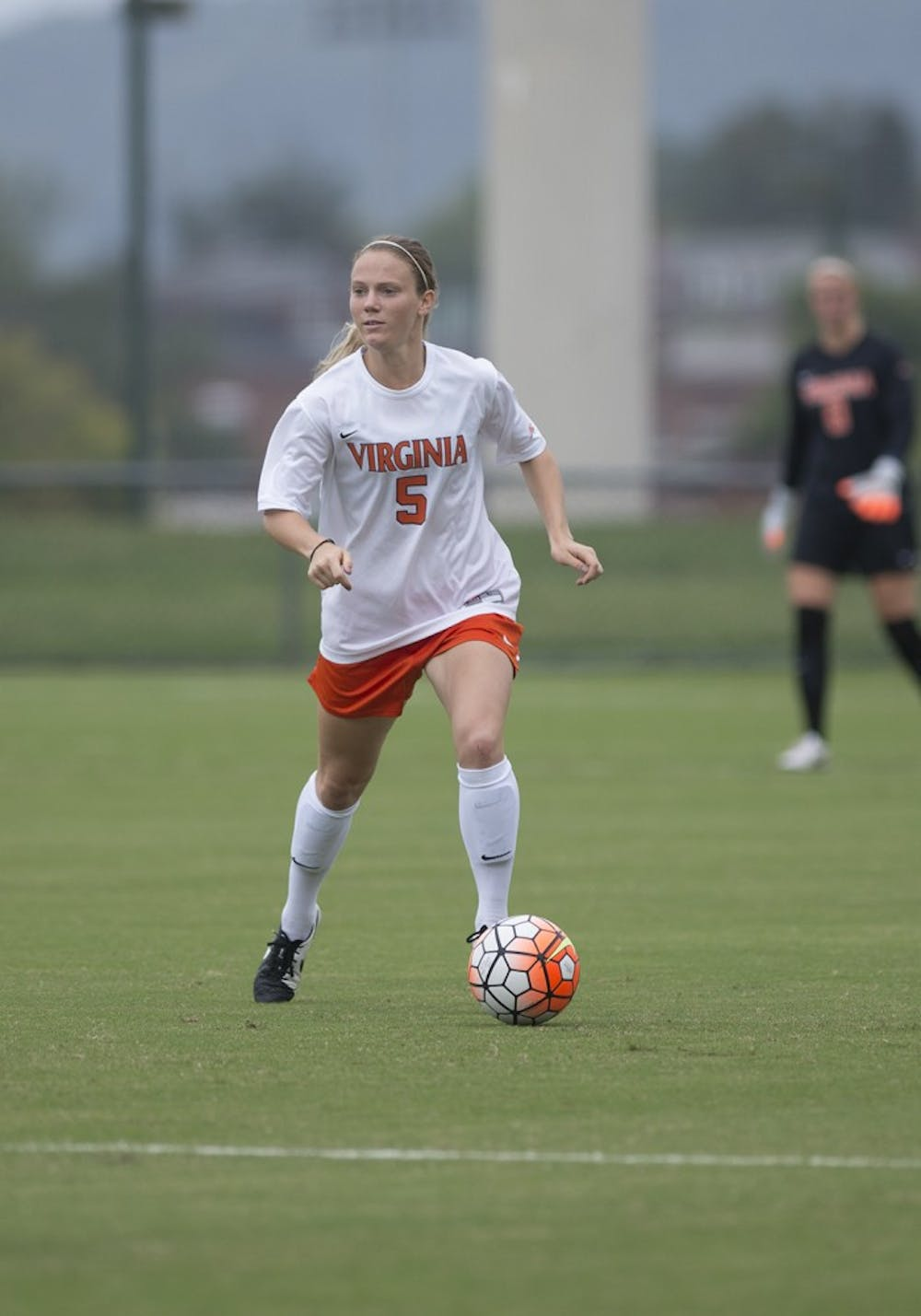 <p>Junior center back Kristen McNabb and the Virginia defense have ceded just six goals in 12 matches this season.</p>