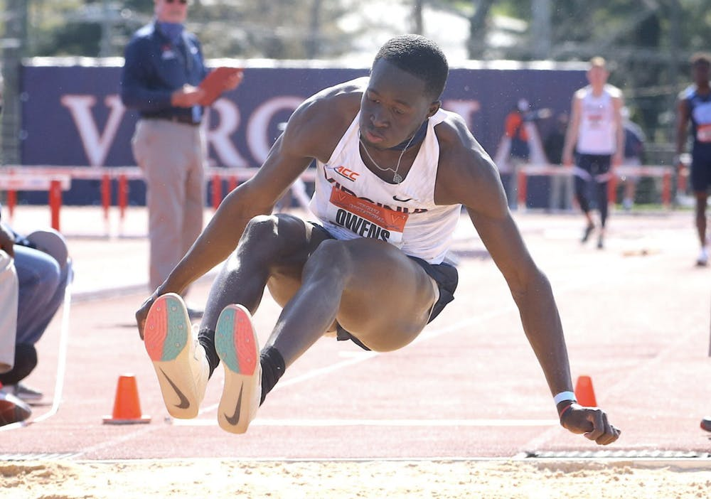 <p>Junior Owayne Owens was one of many Cavaliers to set personal bests this weekend.</p>