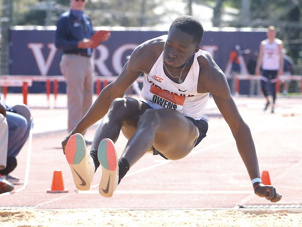 Junior Owayne Owens was one of many Cavaliers to set personal bests this weekend.