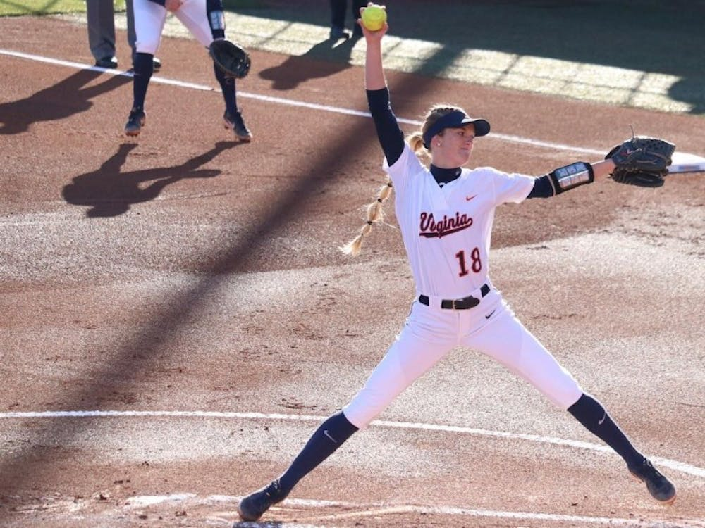 Freshman pitcher Aly Rayle earned the win for Virginia against Bradley at the Tennessee Classic.
