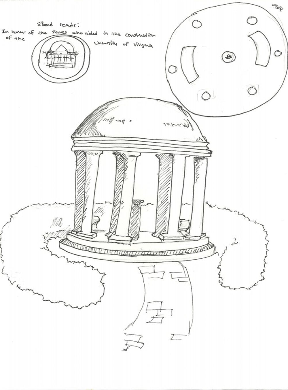 <p>One of several&nbsp;memorial concepts that was submitted as part of a competition in 2011. Raucher said the chosen&nbsp;firm will be soliciting more ideas from the University and Charlottesville communities.&nbsp;</p>