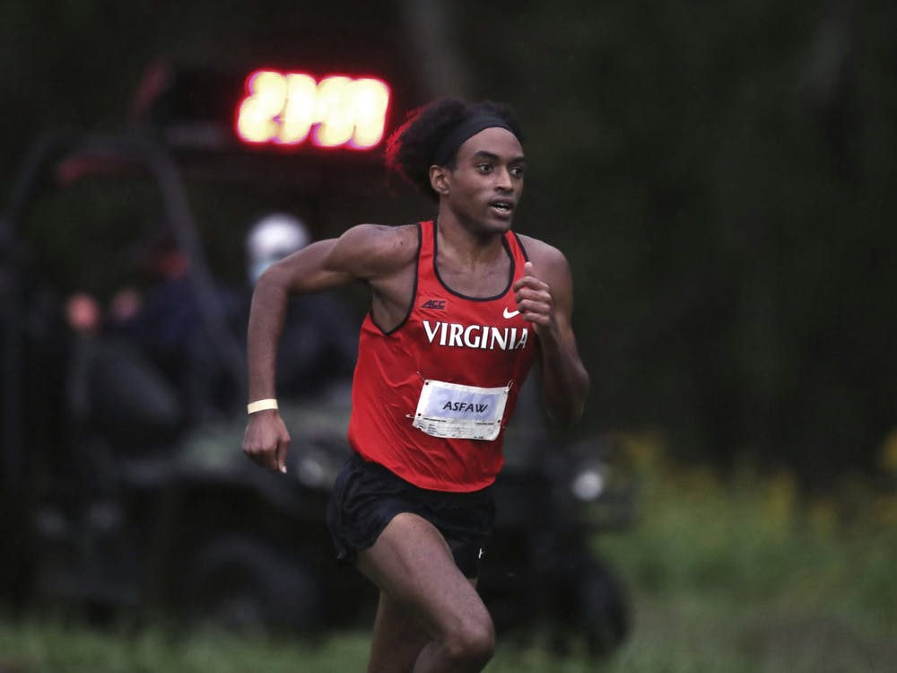 Senior Rohann Asfaw led Virginia on the men's side, running the fastest 8K of the meet.