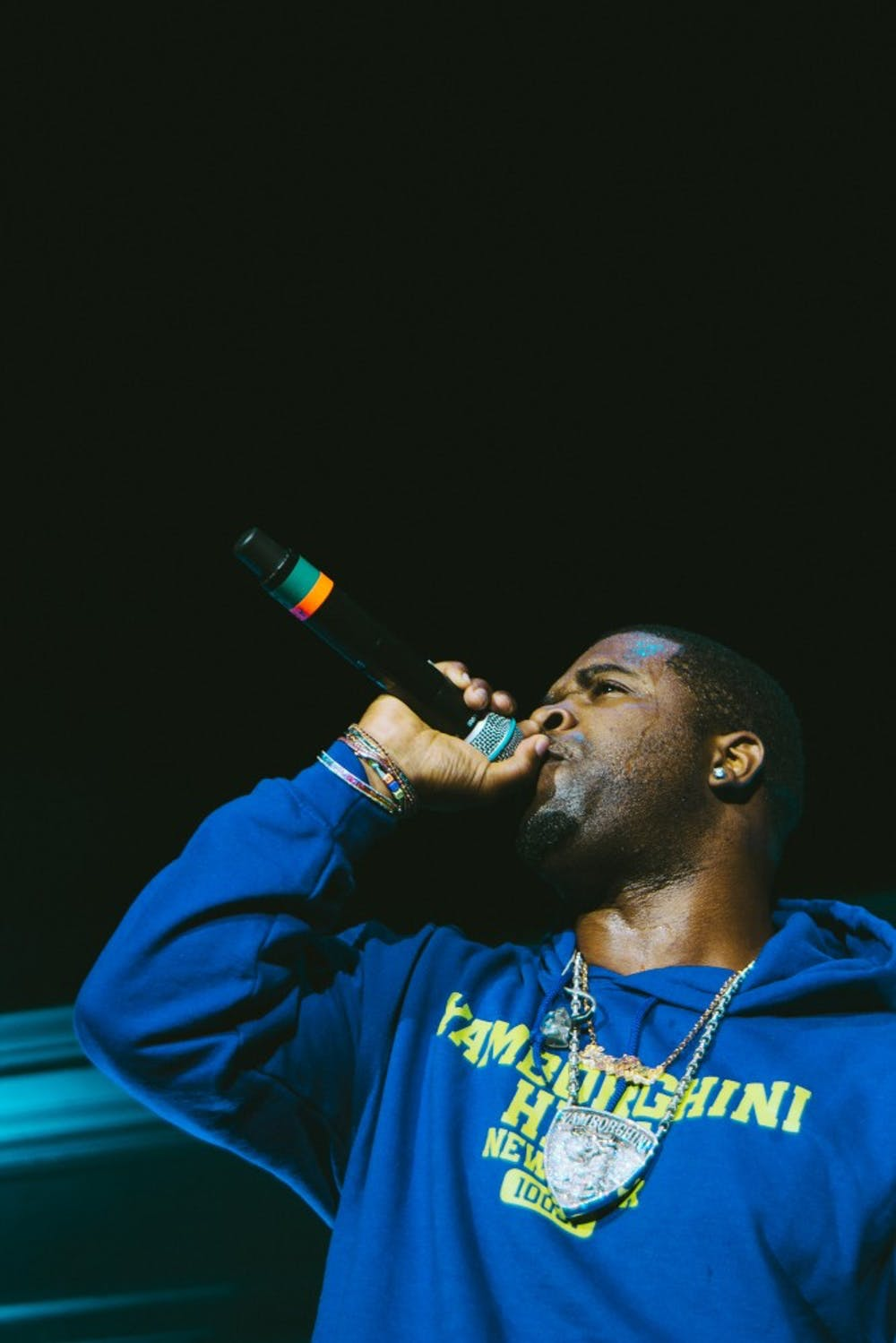 A$AP Ferg performed for students at the McIntire Amphitheater.