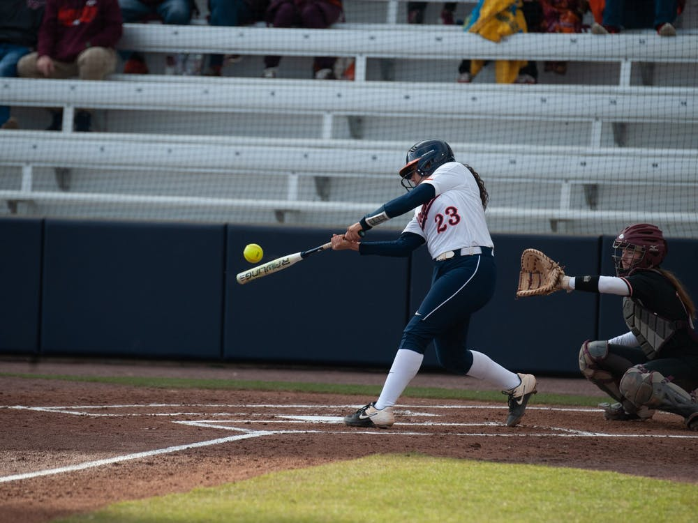 Sophomore catcher and infielder Donna Friedman got on base in the Cavaliers' first game against the Hokies.