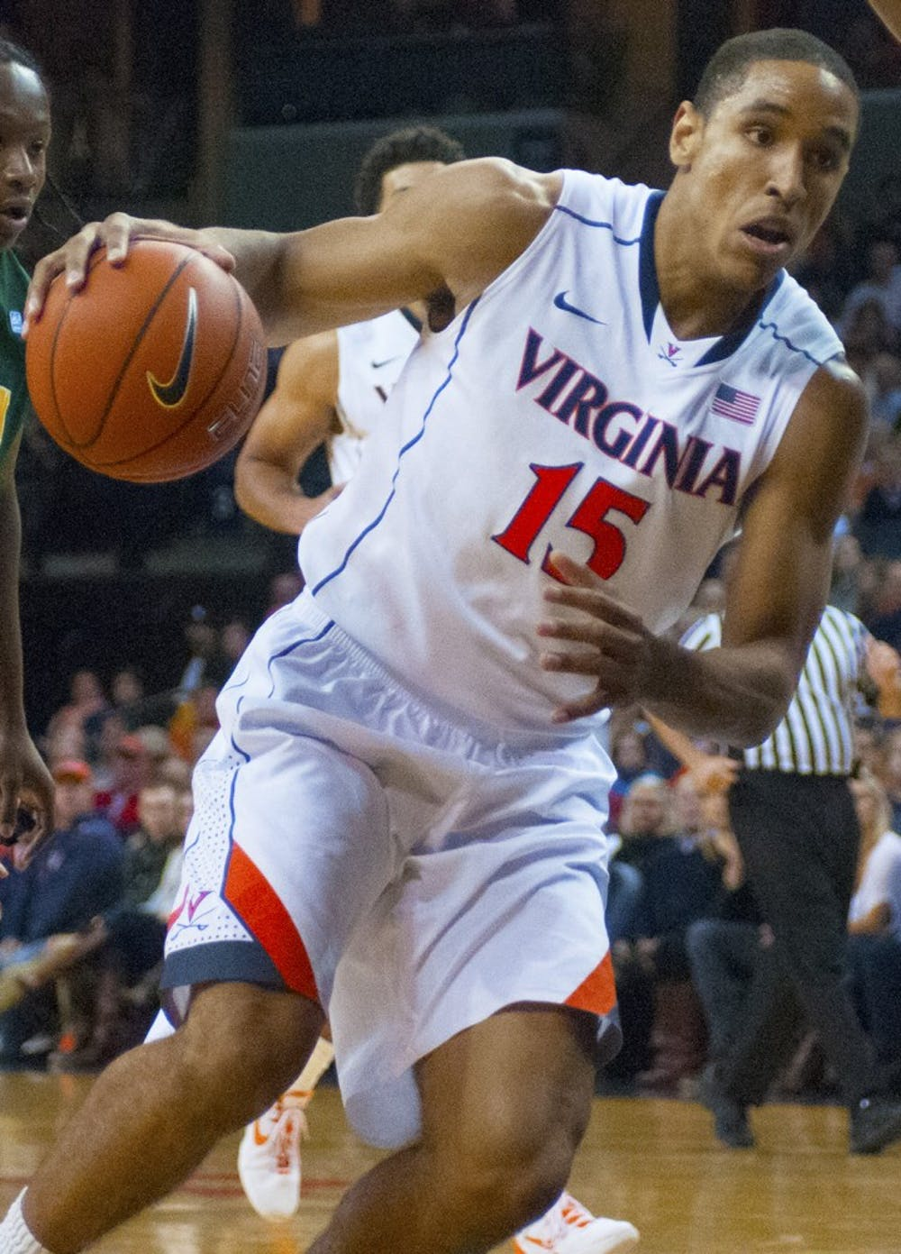 <p>Junior guard Malcolm Brogdon knocked down two 3-pointers, grabbed three rebounds and dished out three assists in 26 minutes Sunday night against Norfolk State.</p>