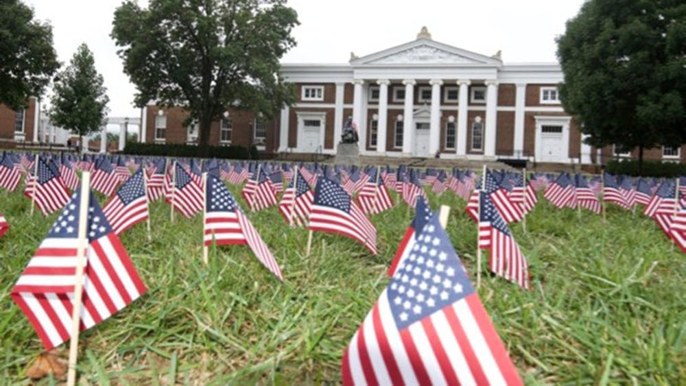 9/11 remembrance on the lawn