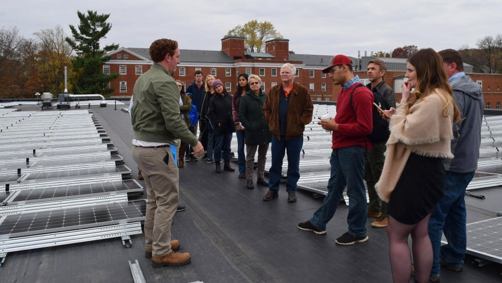 Tuesday's tour showcased Ruffner's solar panels, which were unveiled in 2016