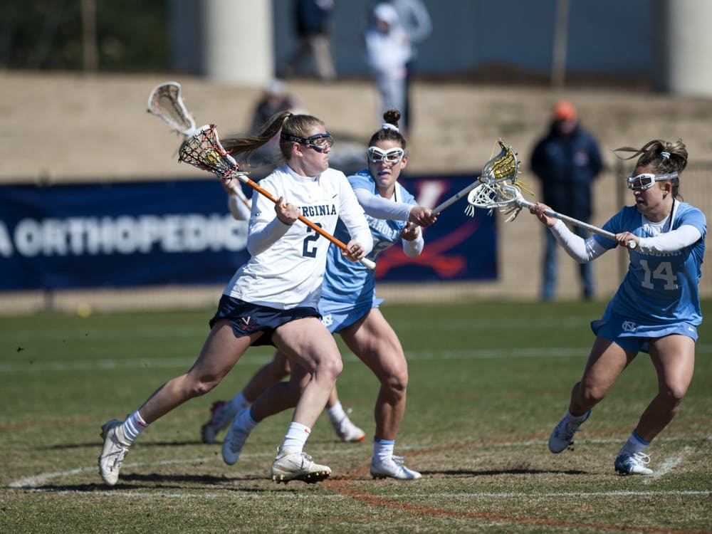 Senior midfielder Sammy Mueller led the Cavaliers with a well-rounded performance including three goals, one assist, four ground balls and three caused turnovers.