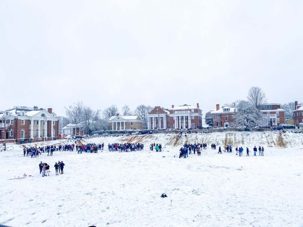 <p>Just last weekend, large numbers of students gathered in the snow at Madison Bowl — many without masks and none observing proper distancing.&nbsp;</p>