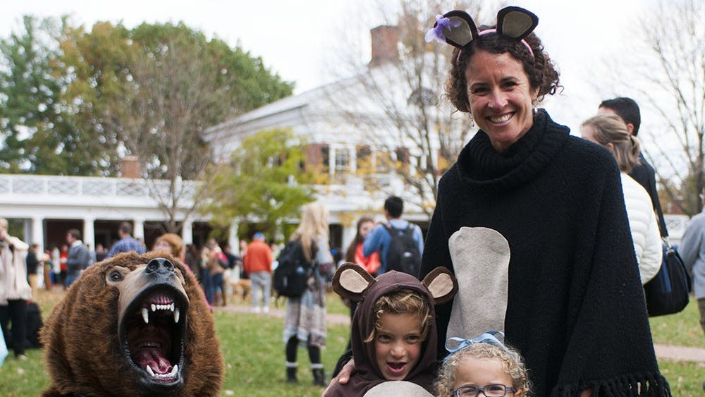 Since the tradition was established in the early 1980's, children from the Charlottesville community have dressed in costumes and gone door-to-door on the designated day to each of the 54 lawn rooms to receive candy distributed by student groups.