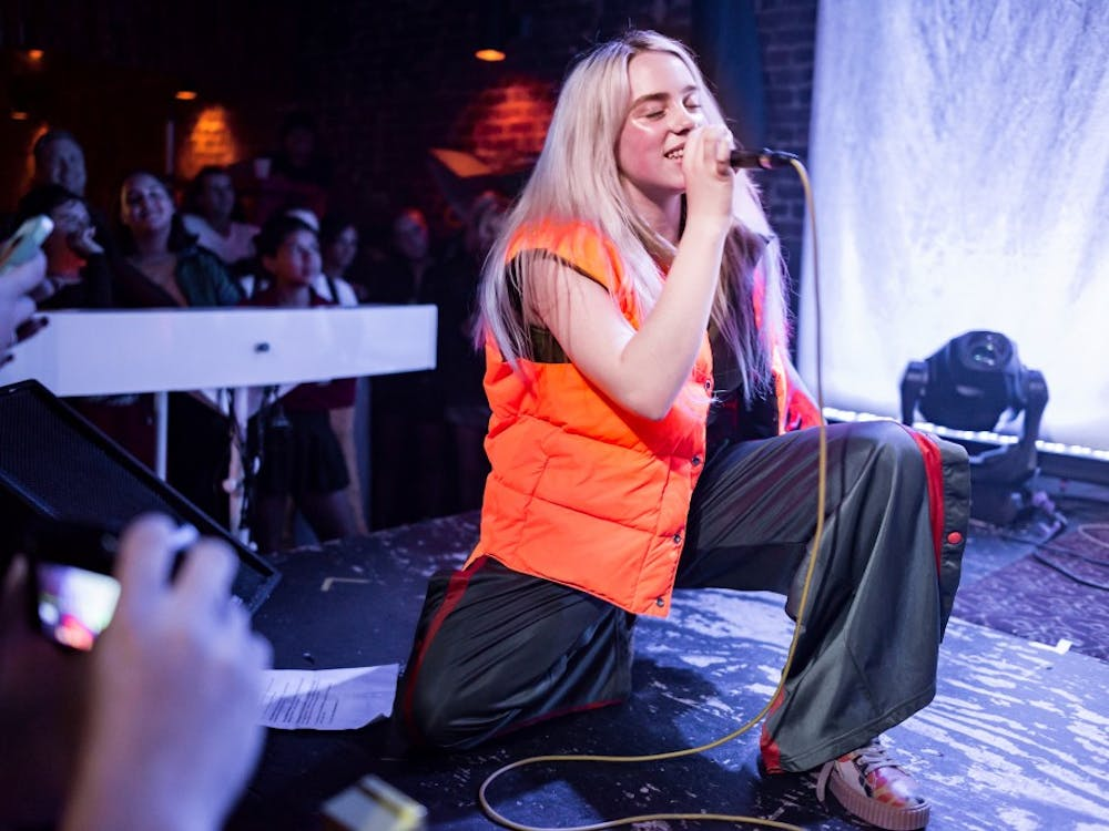 Billie Eilish performs at The Hi Hat in Los Angeles in Aug. 2017.