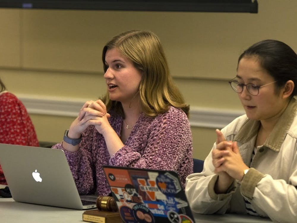 The 2019-2020 term officially ended April 5 with the transition of leadership from fourth-year College student Ellie Brasacchio to third-year College student Ellen Yates as president.
