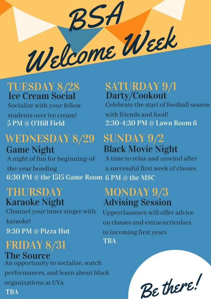 bsa welcome week flyer