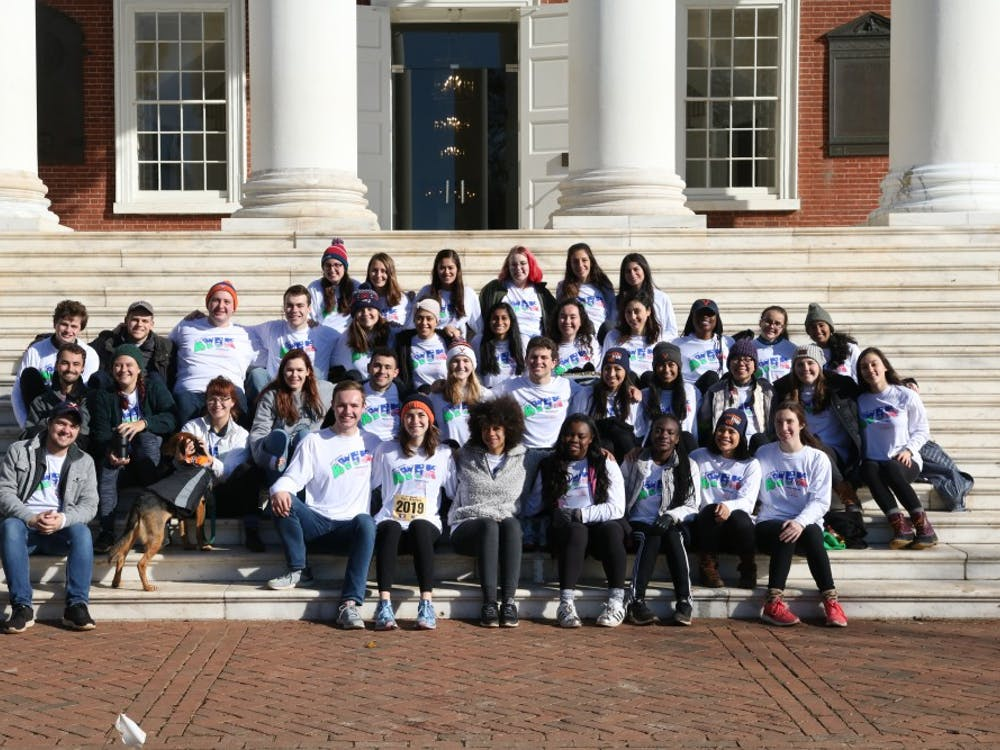 This photo shows the Peer Health Educators from this year's Fourth Year 5K.