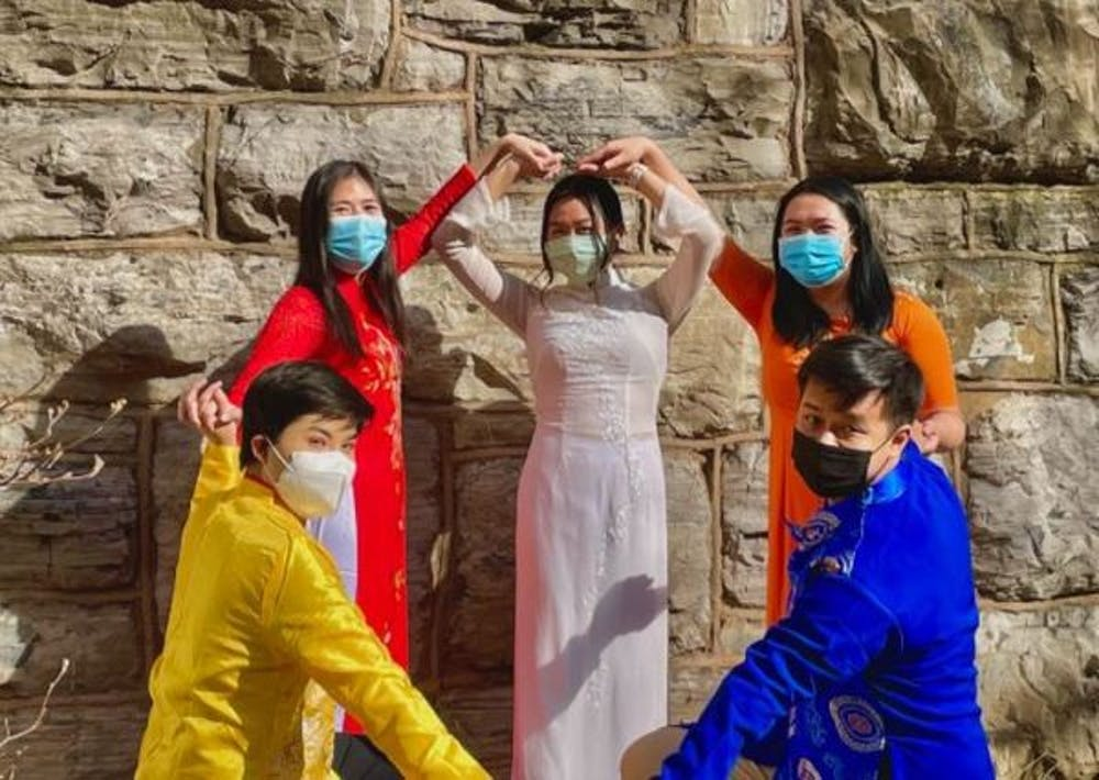 """For the traditional side of both the fashion show and dance, participating members wore """"ao dai"""" — a traditional Vietnamese garment worn for ceremonies, school and other special events."""