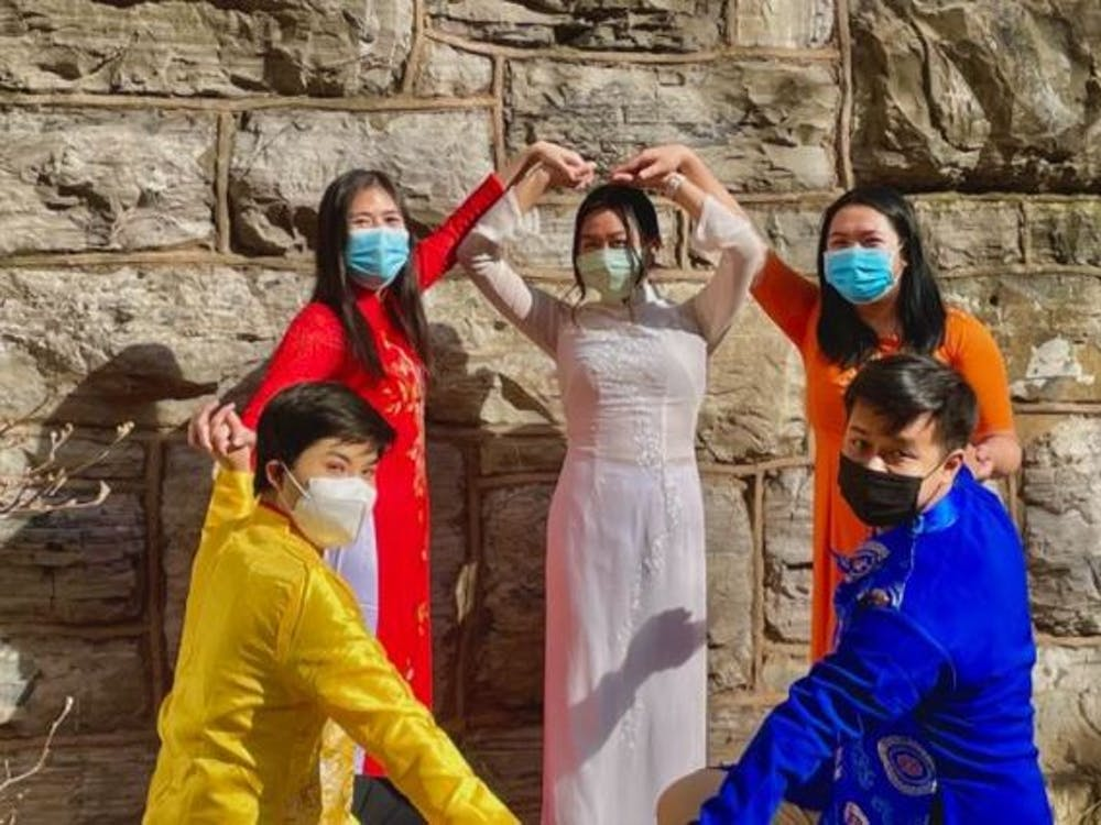 "For the traditional side of both the fashion show and dance, participating members wore ""ao dai"" — a traditional Vietnamese garment worn for ceremonies, school and other special events."